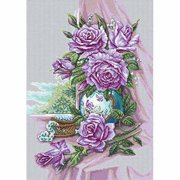 "RTO Rose Bouquet Counted Cross-Stitch Kit, 11-3/4"" x 16-1/2"", 14 Count"