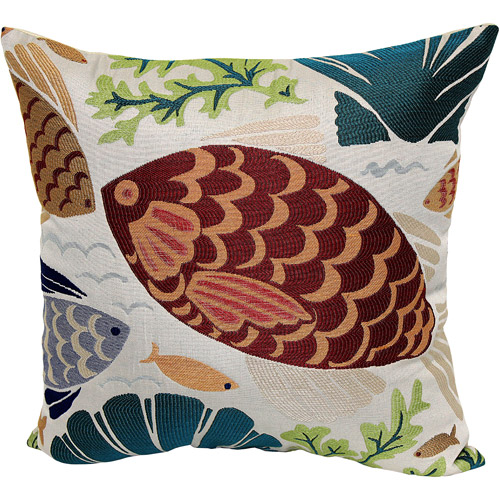 Better Homes and Gardens Coastal Fish Decorative Pillow, Multi-Color