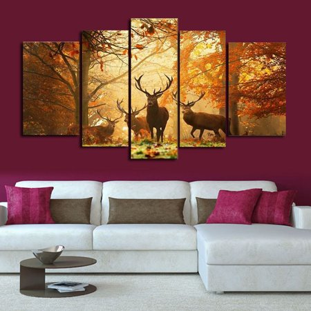 Moaere Handmade Deer Wall Art Oil Painting Giclee Landscape Canvas Prints for Home Decorations Unfamed - image 6 of 7