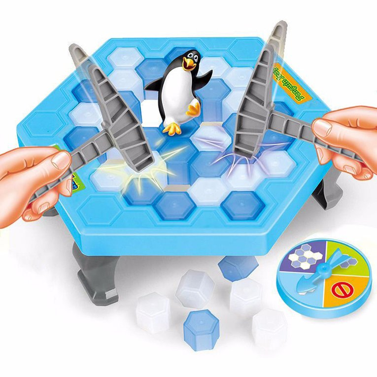 Interesting Game Ice Breaking Knock Save The Penguin Great Family On Sale Kids Adults Game Toys Gifts Puzzle Table Desktop Game