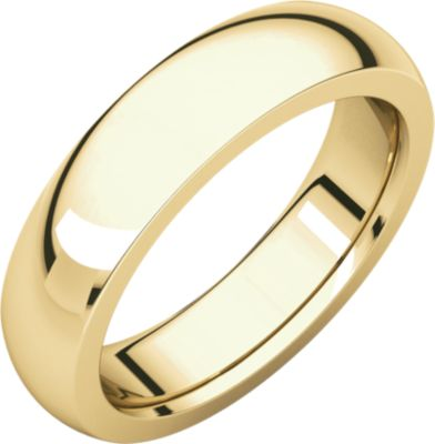 Roy Rose Jewelry 10K Yellow Gold 5mm Heavy Comfort Fit Wedding Band Ring Size 13