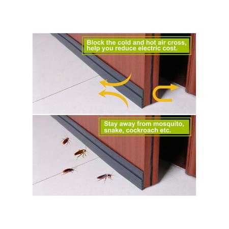Diameter Black Stripping (Draft-Blocking Under Door Silicone Weather Stripping Gap Sealer with Self-Adhesive Backing, 2