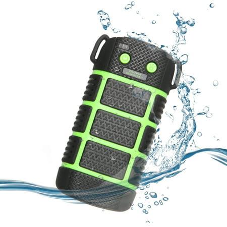 Tritina Waterproof Power bank - LED Light - SOS Signal, 5200mAh Travel Power Backup for Iphone, Smartphone,Safe