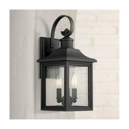 John Timberland Outdoor Wall Light Fixture Black Steel 17 3/4