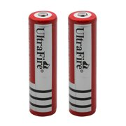 2 Pack 3.7V UltraFire 18650 3000mAh Li-ion Rechargeable Battery For Flashlight Torch LED RC
