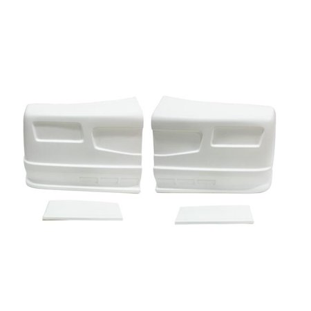 Dominator Race Products 300-WH-BOD SS Street Stock Nose Kits, White