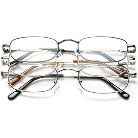 OPTX2020 3PK+200M Reading Glasses,+2.0,Clear, Acrylic, PK 3