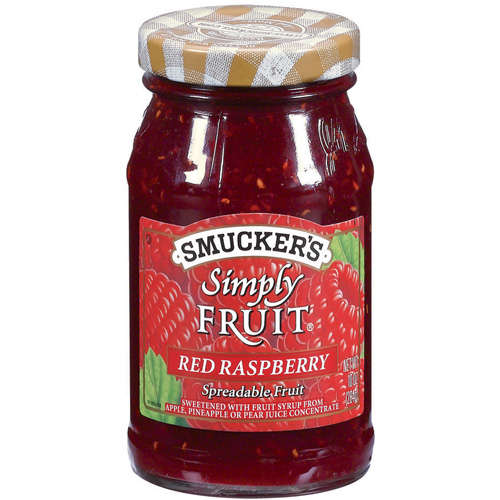 Smucker's: Simply Fruit Red Raspberry Spreadable Fruit, 10 Oz