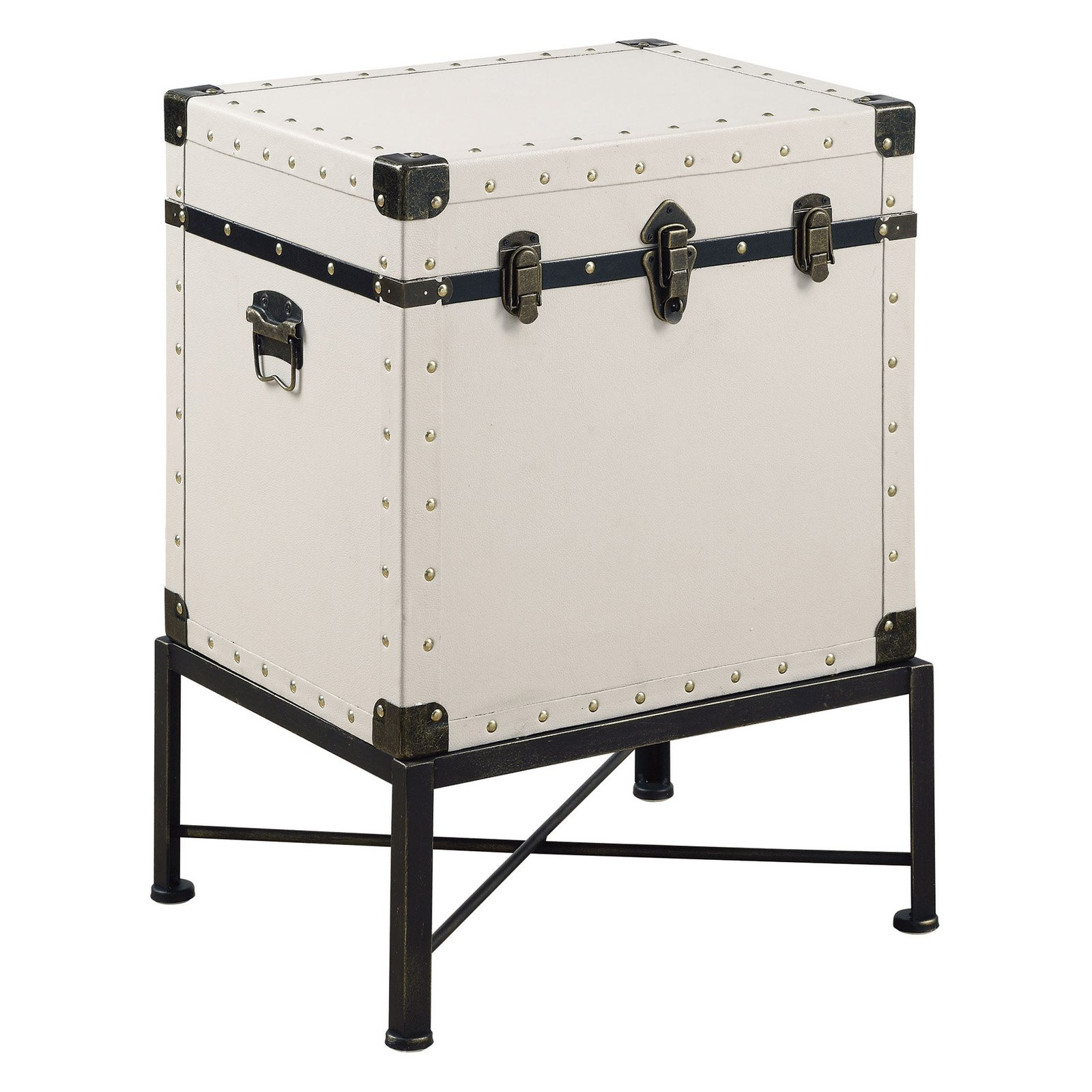 Coaster Company Accent Cabinet, White, Trunk Style
