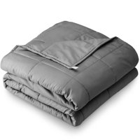"Bare Home Weighted Blanket (40""x60"", 10lb, Grey) Youth Size Heavy Cotton Blanket for Adults & Kids - Sleep Therapy to Help Reduce Stress, Insomnia & Anxiety"