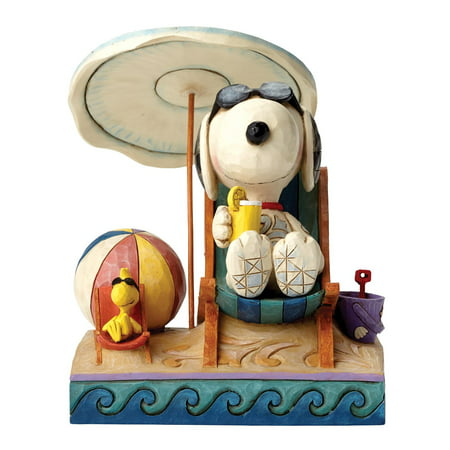 Jim Shore Peanuts Beach Buddies Snoopy and Woodstock Figurine 4049415 New (Jim Shore Figure)