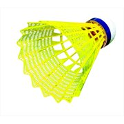 Tournament Yeller Badminton Shuttlecocks - Yellow, Set - 6