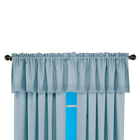 Insulated Double Layer Sheer Window Curtains with Energy Saving Thermal Technology, Valance,