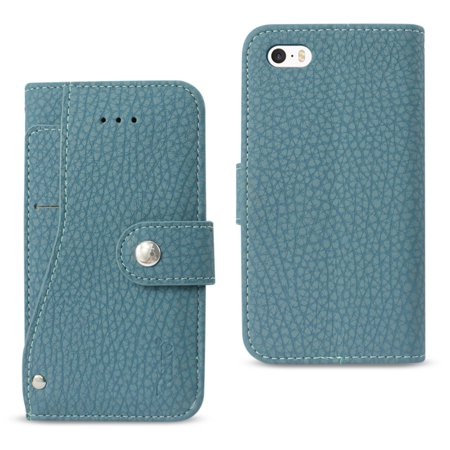 Reiko Iphone Se Wallet Case With Slide Out Pocket And Fold Stand In Navy