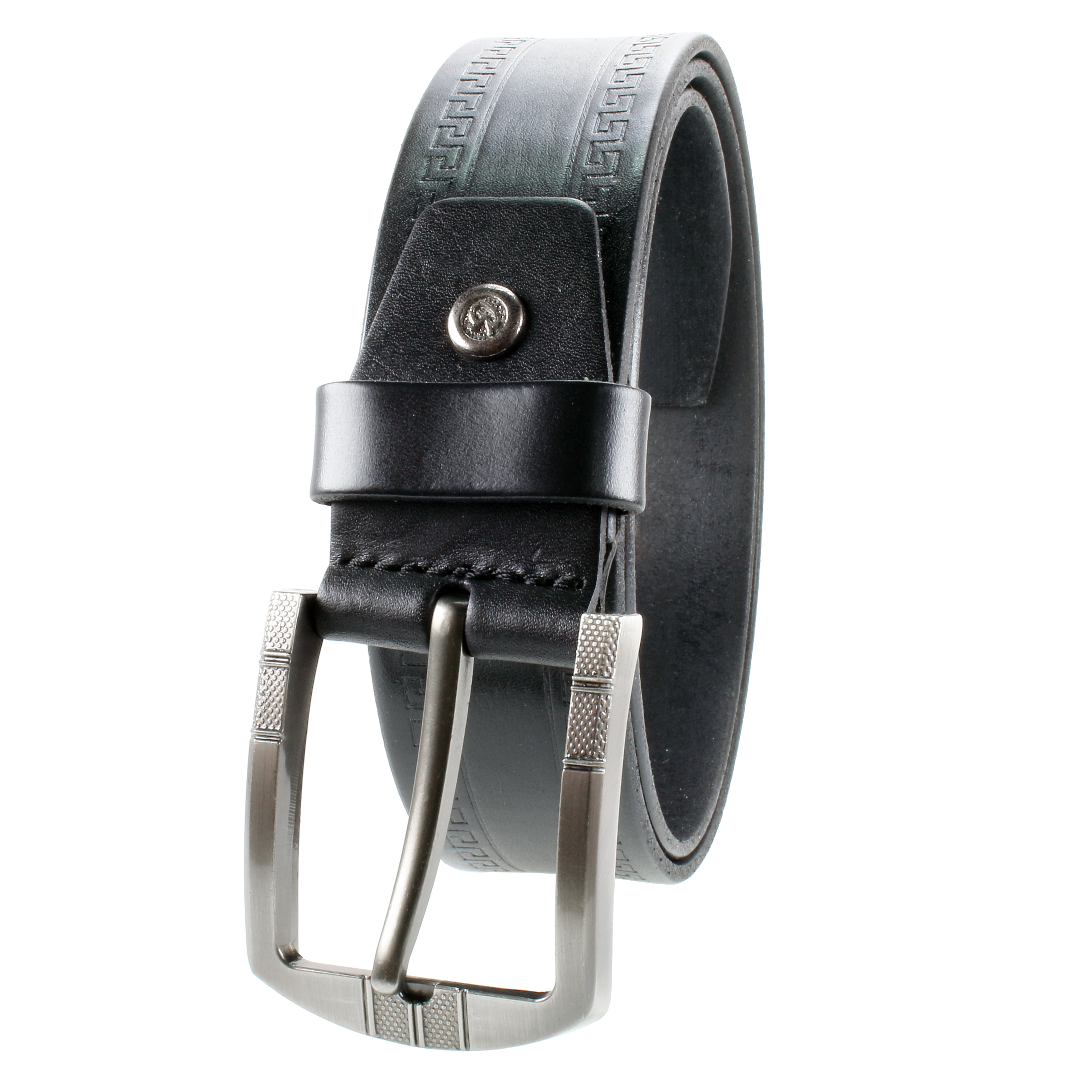 One Piece Top Grain Thick Heavy Duty Gelante Mens Leather Belt