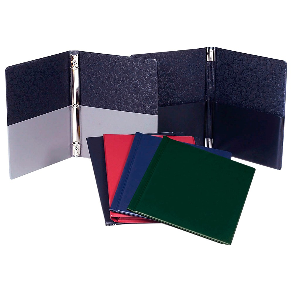 Marlo Plastics Choral Folder 9-1/4 x 12 With 7 Elastic Stays and 2 Expanded Horizontal Pockets Black