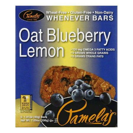 Pamelas Oat Blueberry Lemon Whenever Bars, 7.05 Oz (Pack of 6) - Homemade Lemon Bars