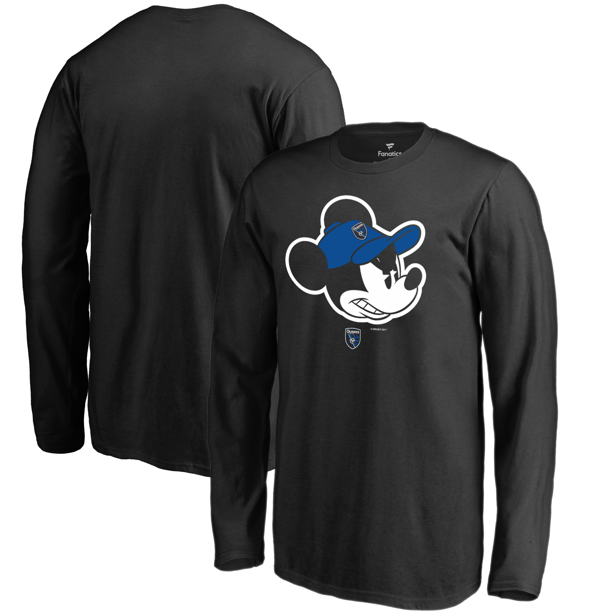 San Jose Earthquakes Fanatics Branded Youth Disney Game Face Long Sleeve T-Shirt - Black