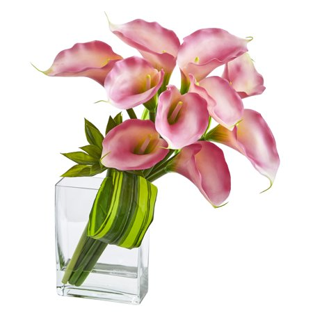 Nearly Natural Calla Lily - Nearly Natural 20 ft. ft. Calla Lily & Succulent Bouquet Artificial Arrangement