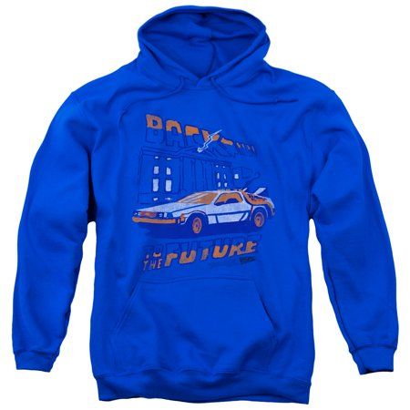 Back To The Future Lightning Strikes Mens Pullover Hoodie Royal