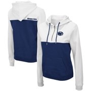 Penn State Nittany Lions Colosseum Women's Aidan Half-Zip Hoodie - White/Navy