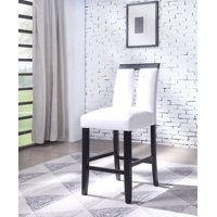 Acme Bernice Counter Height Chair (Set of 2) in White PU and Black