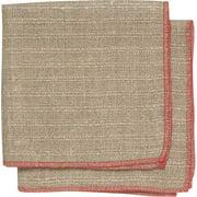 Set of 2 Red Linen Dishcloths 7001 185