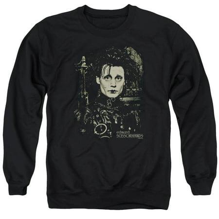 Edward Scissorhands Fantasy Drama Movie Edward Johnny Depp Adult Crew Sweatshirt](Edward Scissorhands Women)