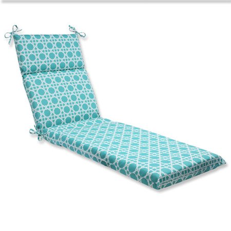 Pillow perfect outdoor indoor kane aqua chaise lounge for Aqua chaise lounge cushions