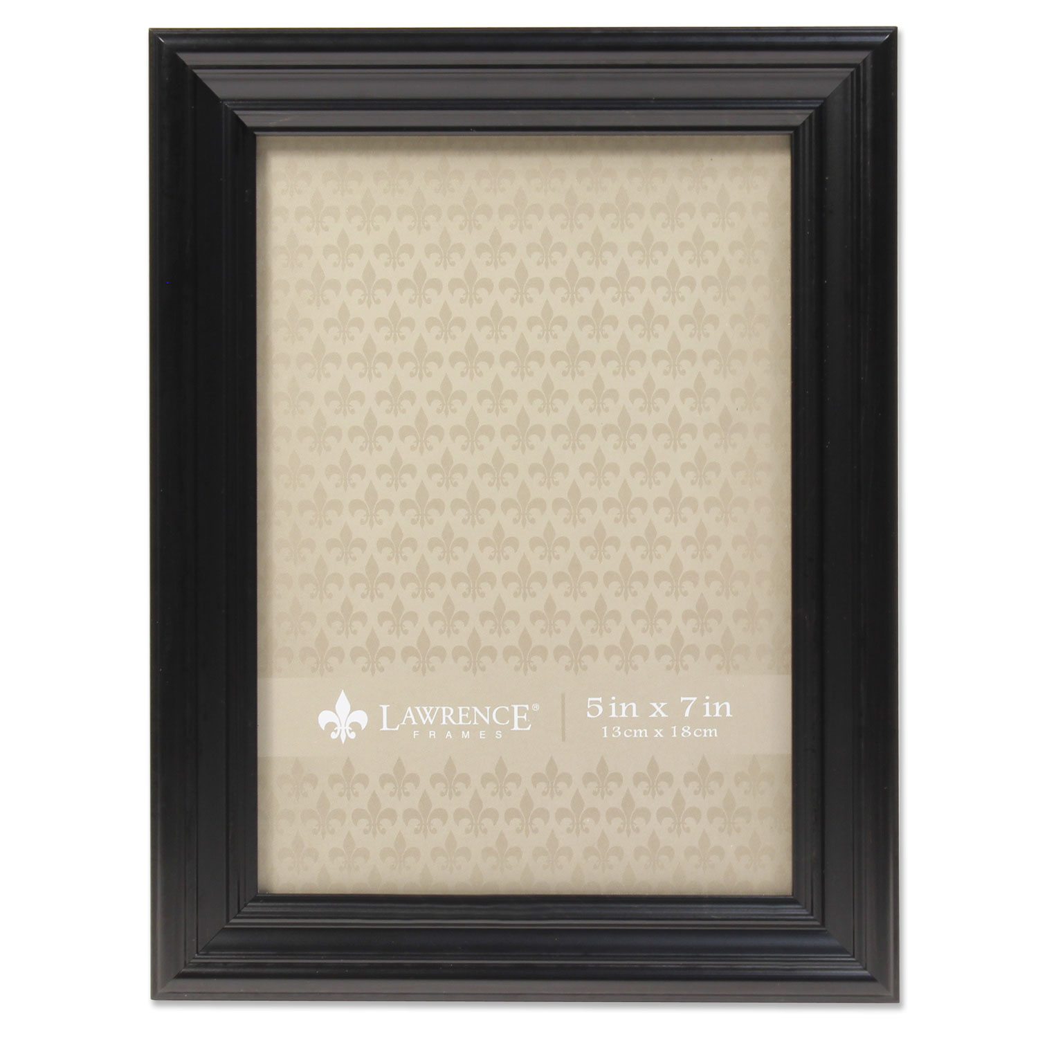 5x7 Classic Detailed Black Picture Frame by Lawrence Frames