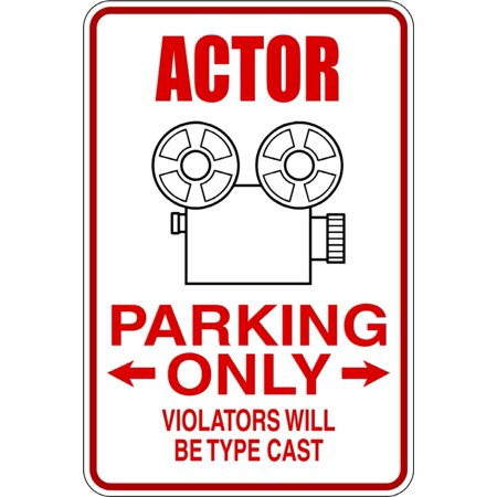 Custom Wall Decal Actor Parking Signs Vinyl Wall Sticker 9 X18