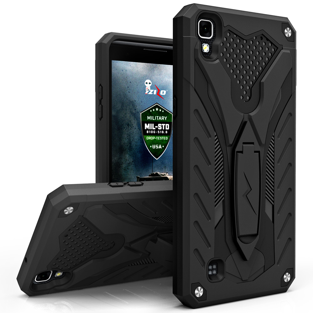 LG Tribute HD Case, Zizo [Static Series] Shockproof [Military Grade Drop Tested] w/Kickstand [Heavy Duty Case] LG Tribute HD LS676 / LG X Style