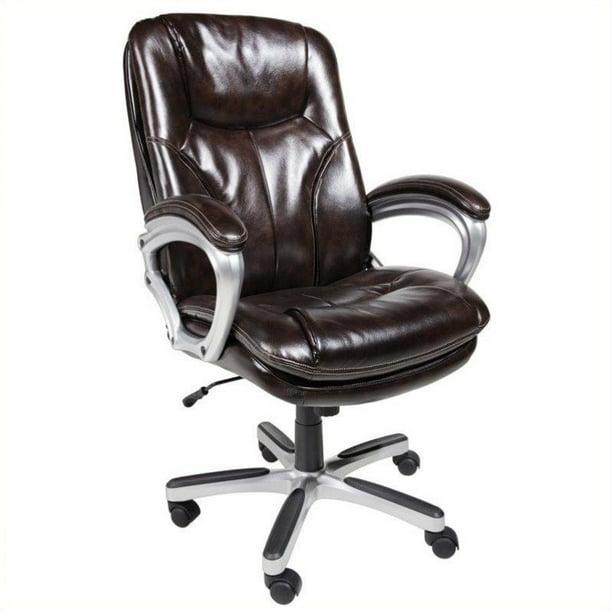 Serta Executive Big Tall Puresoft Office Chair Roasted Chestnut Walmart Com Walmart Com