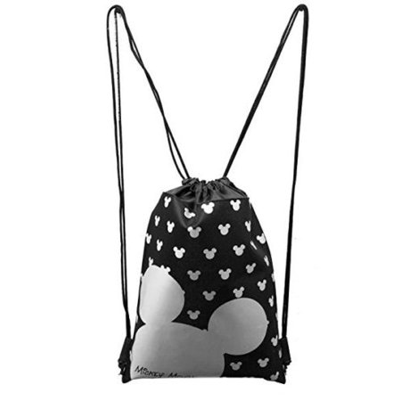 MICKEY MOUSE BACKPACK DRAWSTRING BACKPACK SLING TOTE BAG NWT DISNEY LAND SILVER (Character Slings)