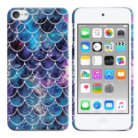 FINCIBO Apple iPod Touch 6 (6th Generation) Protector Case Hard Back Cover, Mosaic Mermaid (Sesderma C Vit Radiance Glowing Fluid Review)