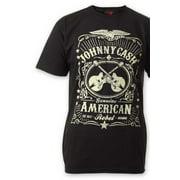 Johnny Cash Men's  Label Slim Fit T-shirt Black