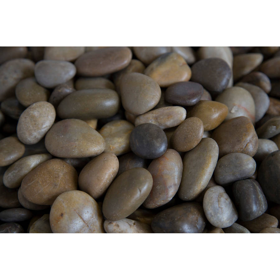 "Margo 20 lb Mixed Grade A Polished Pebbles, .5"" to 1.5"""