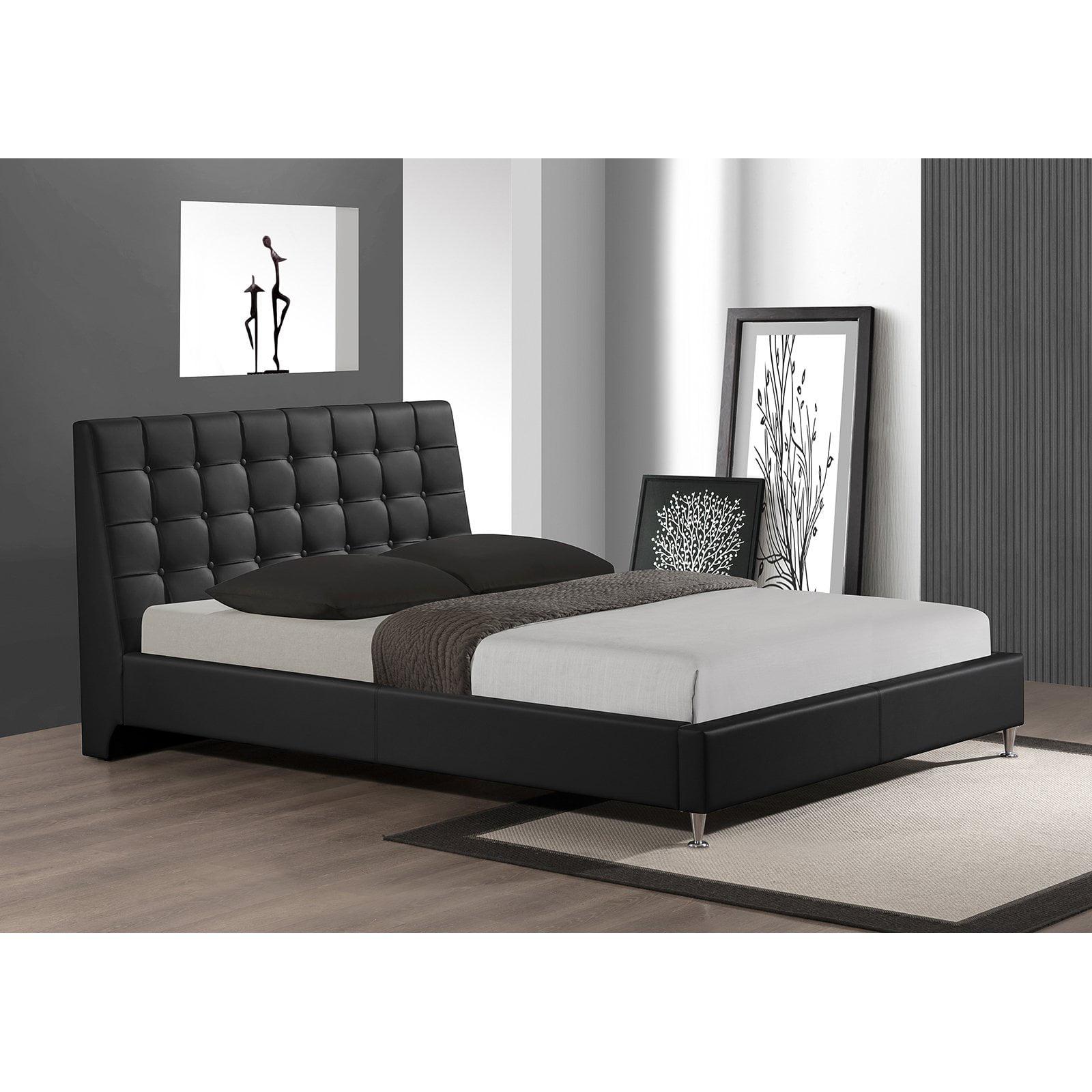 Baxton Studio Zeller Upholstered Platform Bed Walmart
