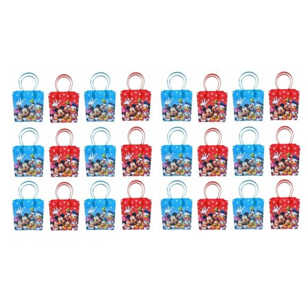 Disney Mickey and Friends Mickey Mouse Party Favor Supplies Goody Loot Gift Bags 24pcs](Mickey Mouse Loot Bags)