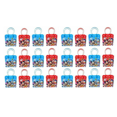 Disney Mickey and Friends Mickey Mouse Party Favor Supplies Goody Loot Gift Bags 24pcs Mickey Mouse Goody Bags