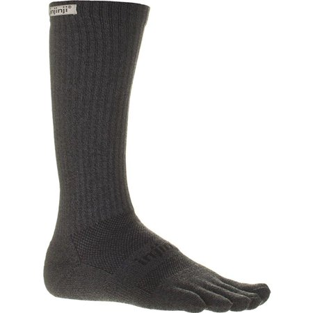 Injinji Unisex Trail Midweight Crew Xtralife Socks Medium Granite
