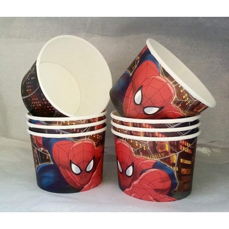 Marvel Ultimate Spider-Man Birthday Party Snack Cups Mini Popcorn Boxes 8 - Spider Man Ultimate