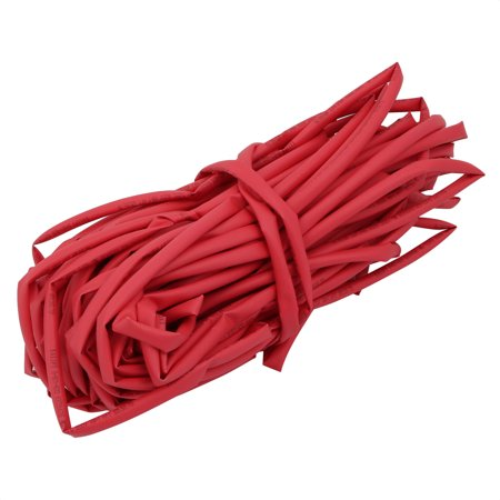 65.6Ft Length 5.5mm Inner Dia Insulated Heat Shrink Tube Sleeve Wire Wrap Red - image 2 de 2