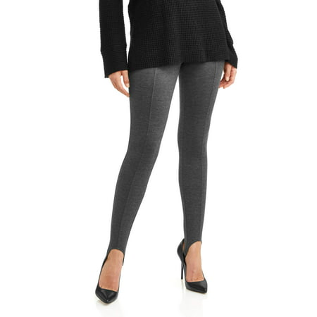 e947cea7e1671 Time and Tru - Women's Ponte Stirrup Leggings - Walmart.com