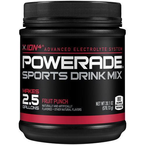 POWERADE ION4 Fruit Punch Sports Drink Mix, 20.1 oz