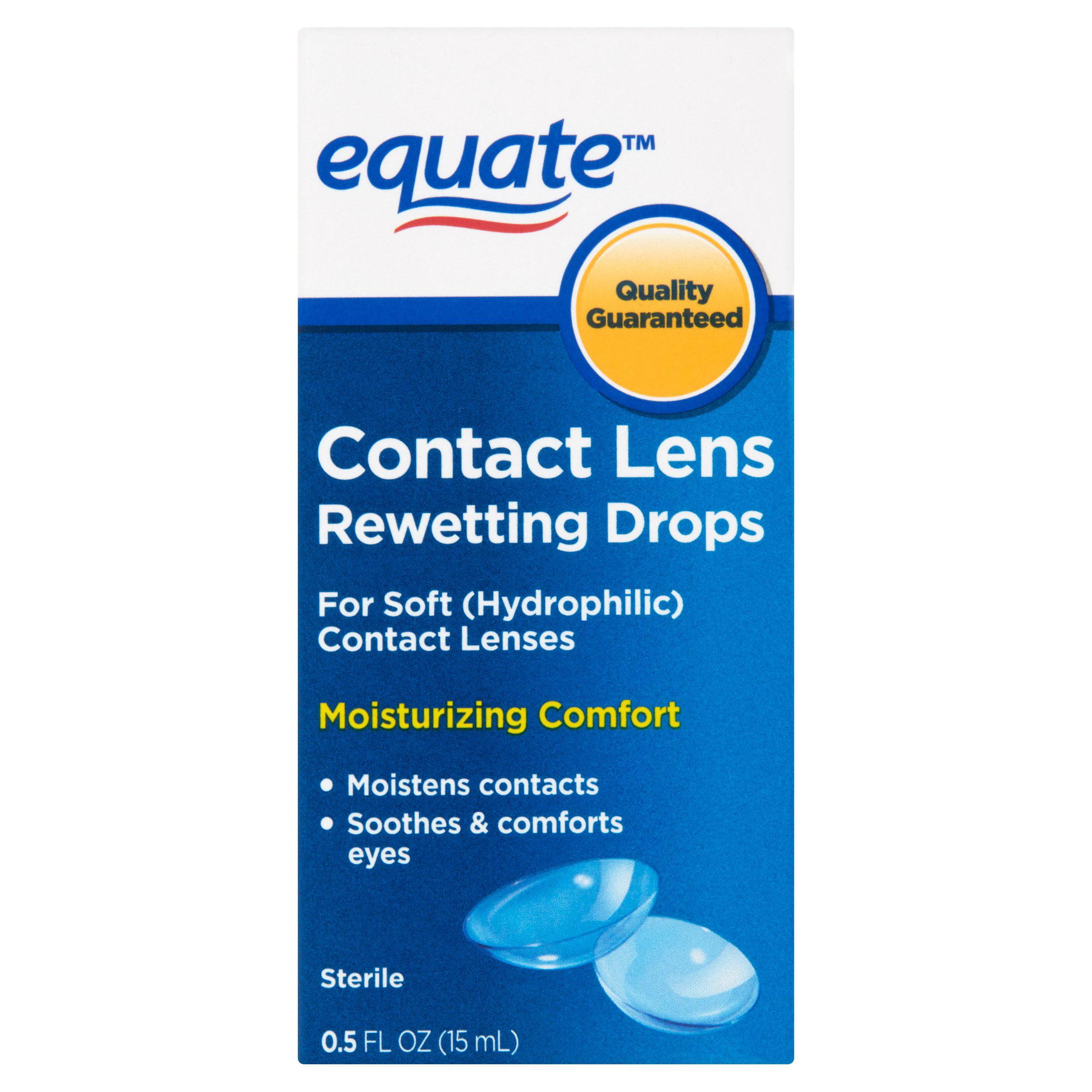 Equate Contact Lens Rewetting Drops, 0.5 Oz