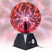 SensoryMoon True 8 Inch Plasma Ball Lightning Lamp Globe - Electric Touch and Sound Sensitive Tesla Plasma Nebula Light with Large Glass Sphere Orb for Kids Nightlight or Science Toy
