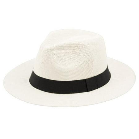 1ff760ce618ef Summer Big Brim Panama Hat Fedora