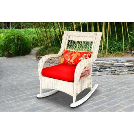 woven porch rocking chair white. Black Bedroom Furniture Sets. Home Design Ideas