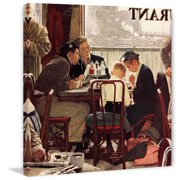 Marmont Hill Saying Grace by Norman Rockwell Canvas Wall Art
